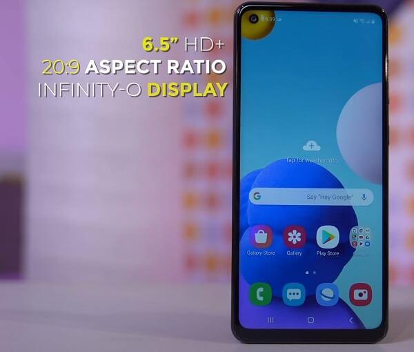 Galaxy A21s Display