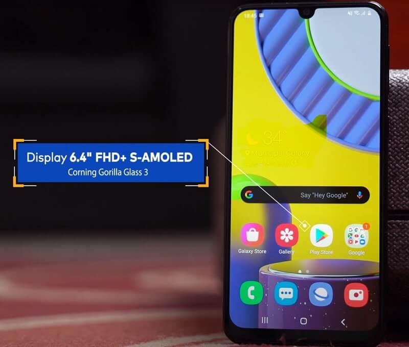 Samsung Galaxy 31 Display and Design