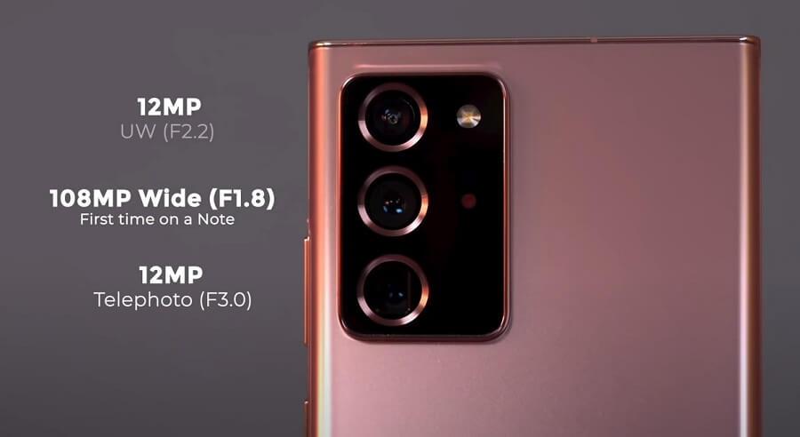 Samsung Galaxy Note 20 Ultra Main Camera