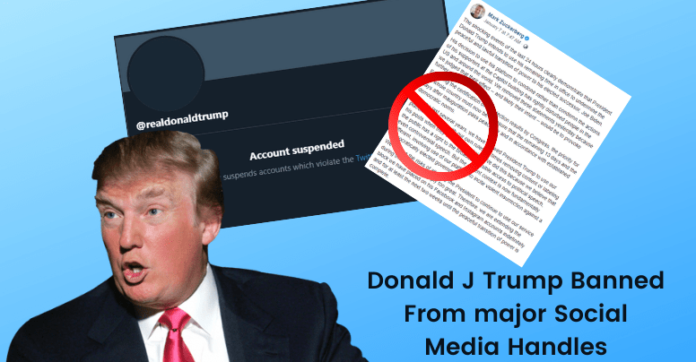Donald Trump Banned from major Social Media