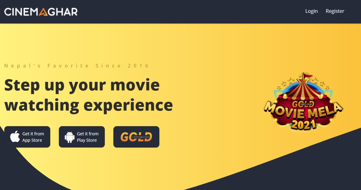 CinemaGhar Homepage Image