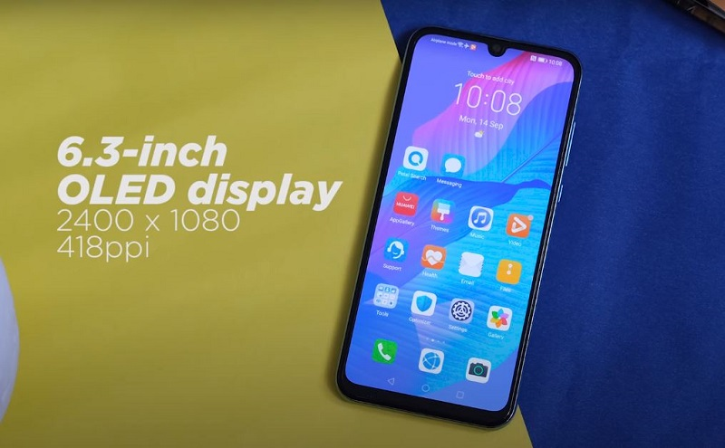 Huawei Y8p Front screen and build quality