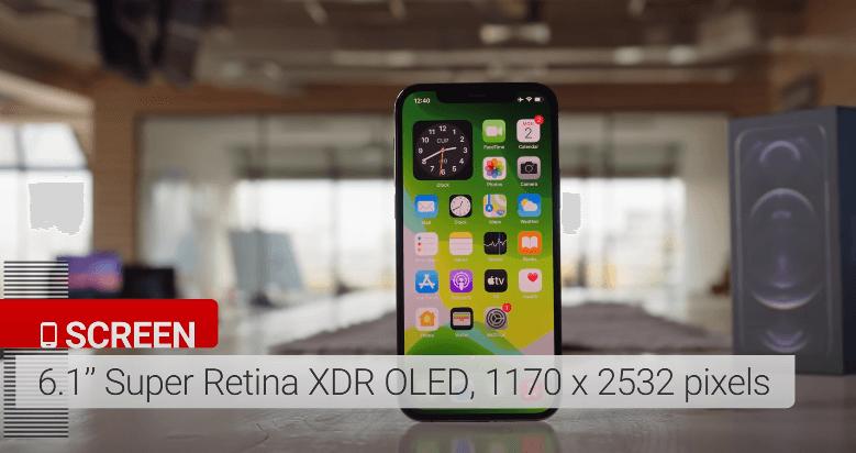 iphone 12 pro design screen