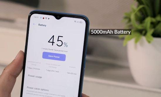 Battery specs of Redmi 8A Dual