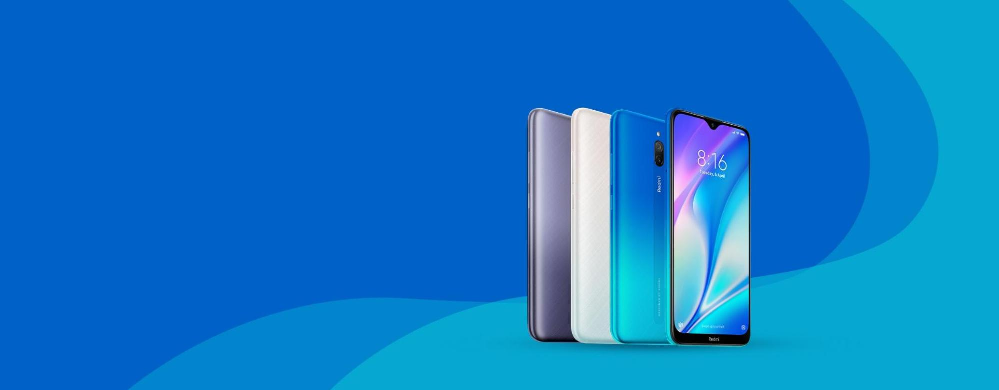 Redmi 8A Dual general outer design in different colors
