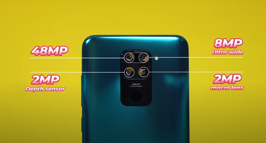 back camera specifications of Redmi note 9