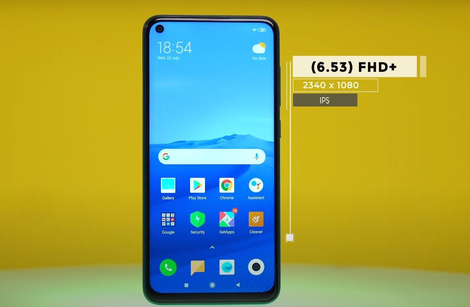 Display and Performance of Redmi note 9