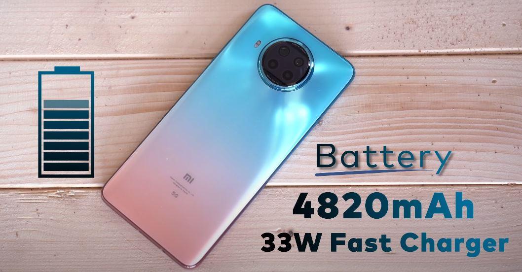 Xiaomi Mi 10i battery Details