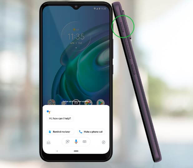 Motorola Moto G10 Google Assistant Button