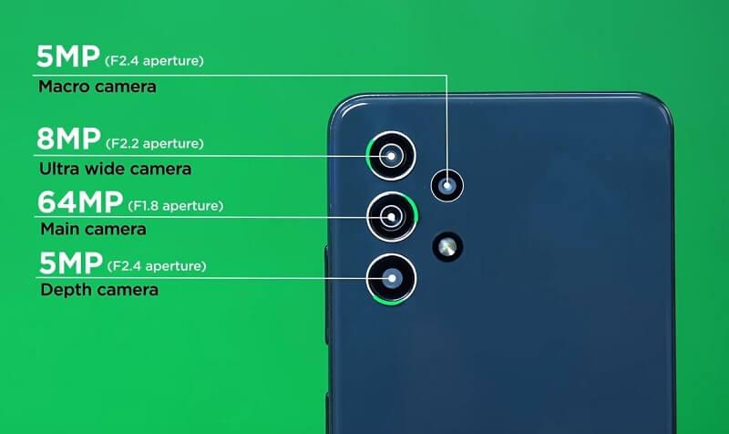 Samsung Galaxy A32 4G Rear Camera