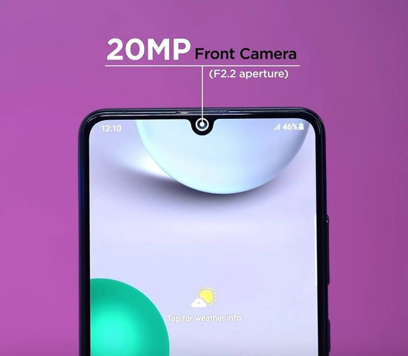 Samsung Galaxy A32 4G Selfie Camera