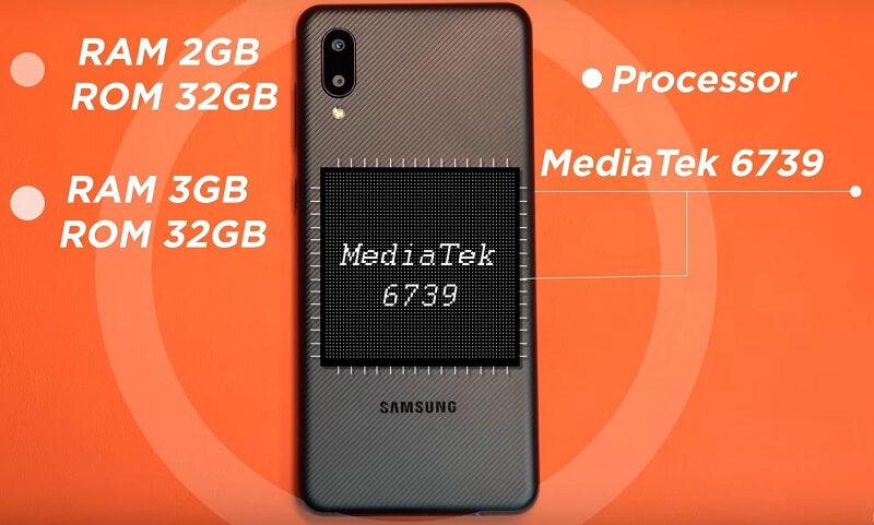 Samsung Galaxy M02 Processor