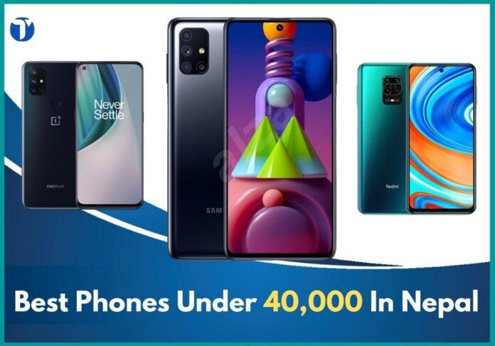 smartphone under 40000 In nepal