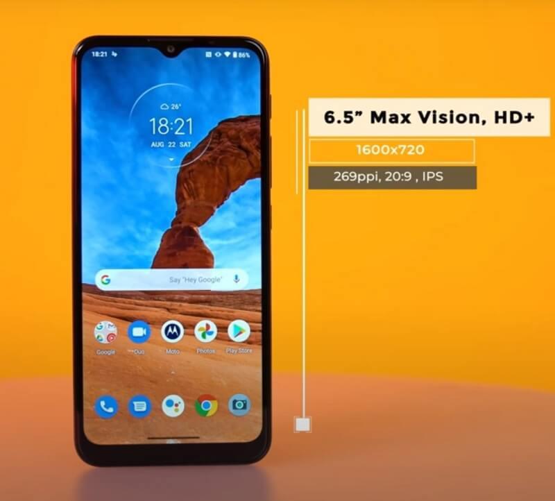 Motorola Moto G9 Play Display