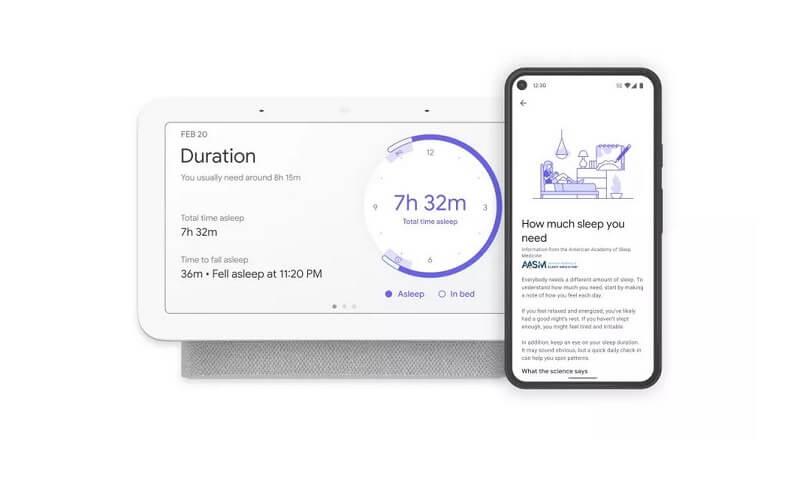 Google Nest Hub 2 Sleep Tracking