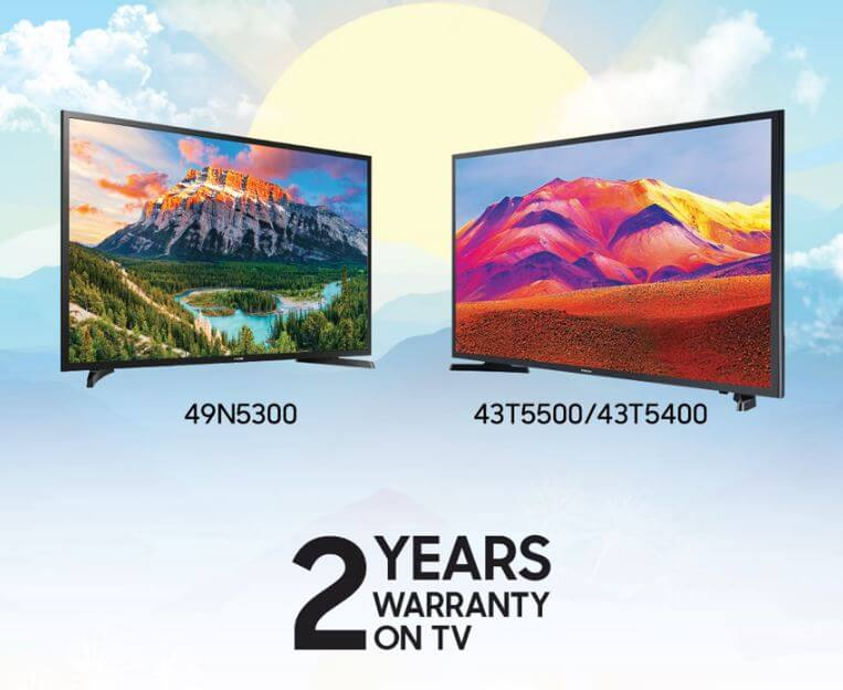 Samsung Two Years Warranty on TV