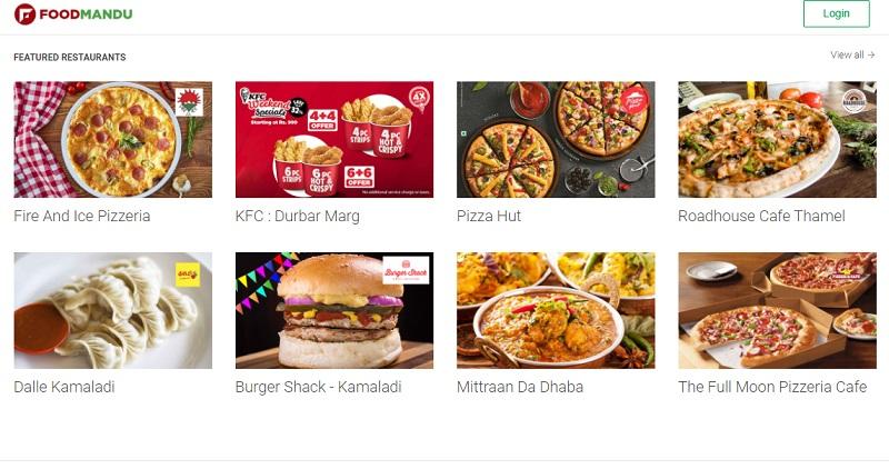 Foodmandu Homepage