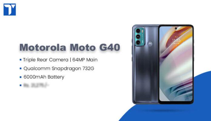 Motorola Moto G40 Fusion Price in Nepal