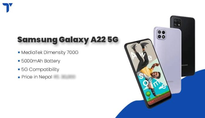 Samsung Galaxy A22 5G price in Nepal, Specs, Availability