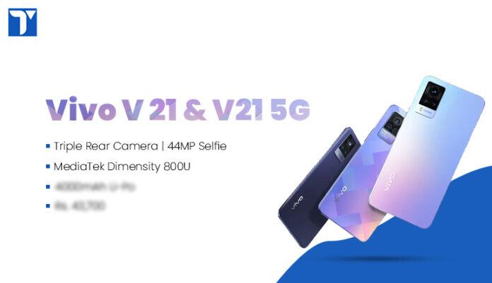 Vivo V21 and Vivo V21 5G Price in Nepal