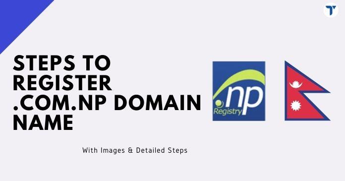 .com.np domain registration steps