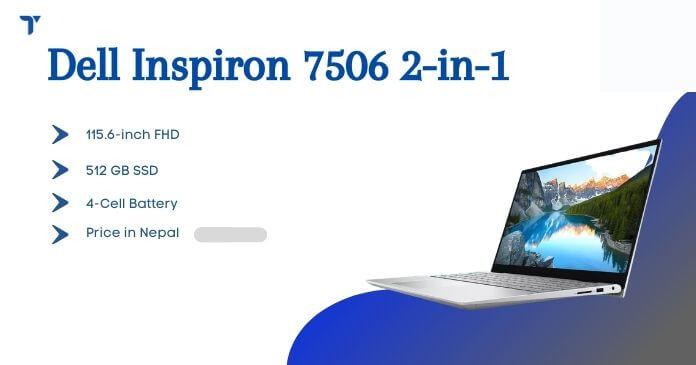 Dell Inspiron 7506 2-in-1 Price in Nepal