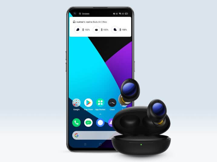 Realme buds Air 2 Neo Battery Display