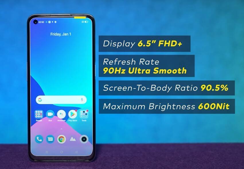 Realme Narzo 30 5G Display