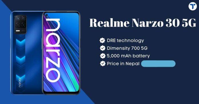 Realme Narzo 30 5G Price in Nepal