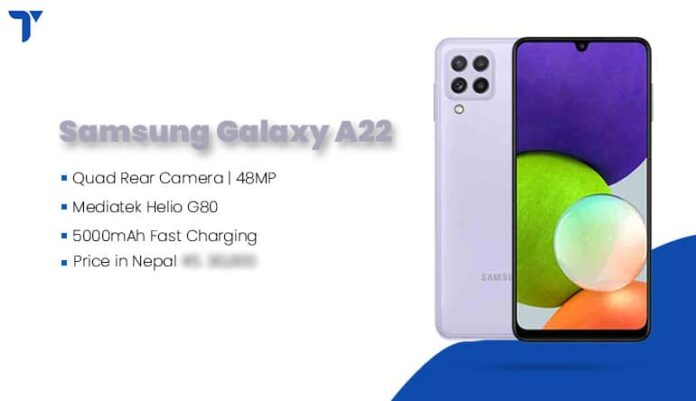 Samsung Galaxy A22 Price in Nepal, Specs, Availability