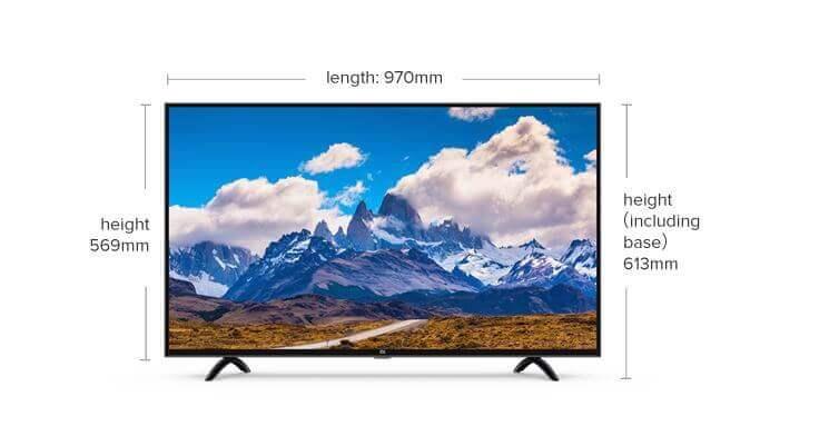 Xiaomi Mi TV 4X 43-inches Design and Build Quality