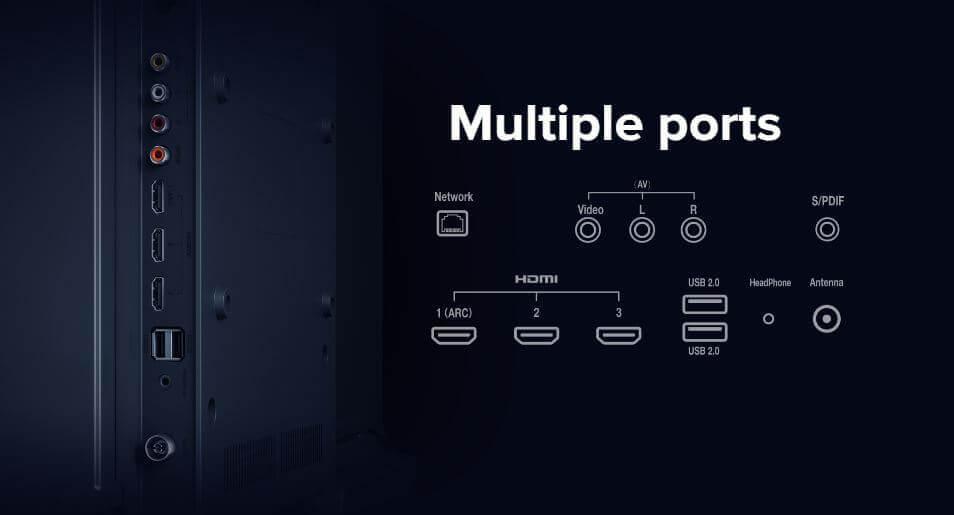 Xiaomi Mi TV 4X 43-inches Ports