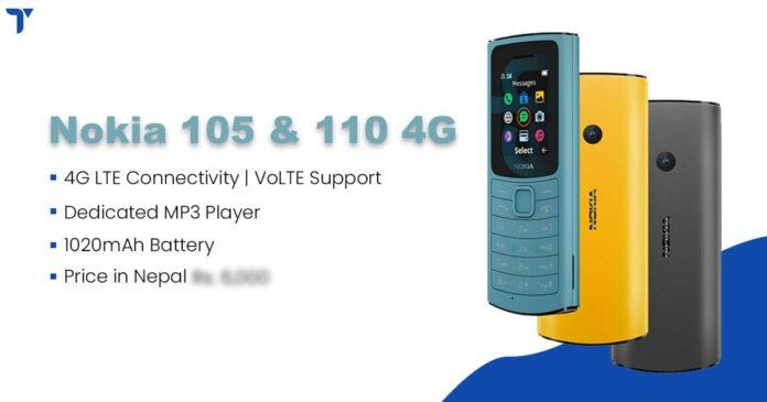 Nokia 105 4G, Nokia 110 4G Price in Nepal, Specs, Availability