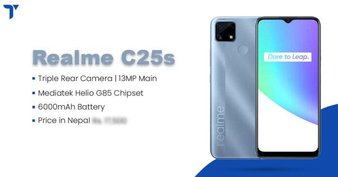 Realme C25s Price in Nepal, Specs, Availability