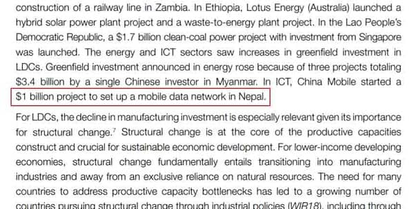 China Mobile Investing $1 Billion in Nepal