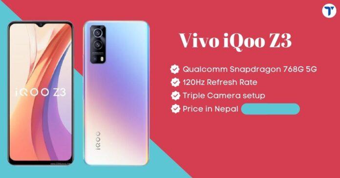Vivo iQoo Z3 Price In Nepal